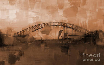 Sydney Harbour Painting - Sydney Opera House 05 by Gull G