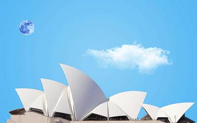 Sydney Harbour Painting - Sydney Opera House 2 by Celestial Images