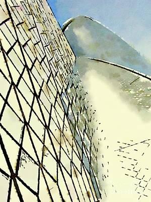 Sydney Painting - Sydney Opera House Abstract By Mary Bassett by Mary Bassett