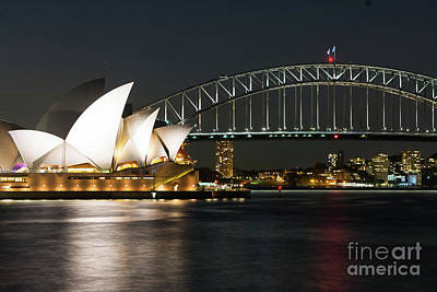 Photograph - Sydney Opera House And Bridge by Andrew Michael