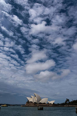 Photograph - Sydney Opera House And Cloudscape by Steven Richman