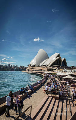 Photograph - Sydney Opera House And Harbour Promenade Outdoor Cafes In Austra by Jacek Malipan