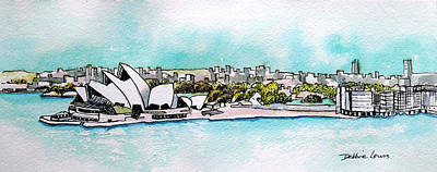 Painting - Sydney Opera House And Skyline by Debbie Lewis