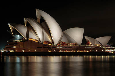 Photograph - Sydney Opera House At Night by John Daly