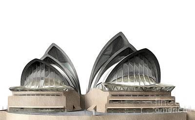Sydney Painting - Sydney Opera House, Australia by John Springfield