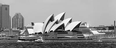 Photograph - Sydney Opera House Bw by Bob VonDrachek