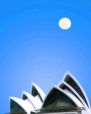 Sydney Harbour Painting - Sydney Opera House By Adam Asar 2 by Adam Asar