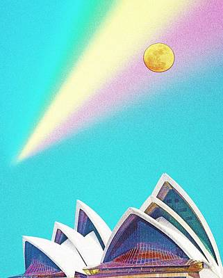 Sydney Harbour Painting - Sydney Opera House By Adam Asar 5 by Adam Asar