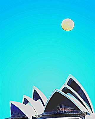 Sydney Harbour Painting - Sydney Opera House By Adam Asar 6 by Adam Asar