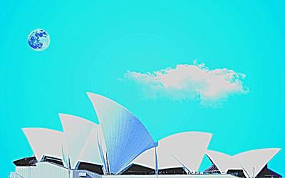 Sydney Harbour Painting - Sydney Opera House By Adam Asar 7 by Adam Asar