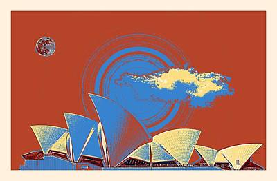 Painting - Sydney Opera House By Adam Asar 9 by Adam Asar
