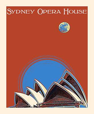Painting - Sydney Opera House By Adam Asar by Adam Asar