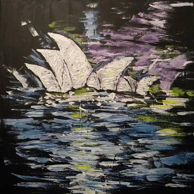 Painter Mixed Media - Sydney Opera House by Carmen Kolcsar
