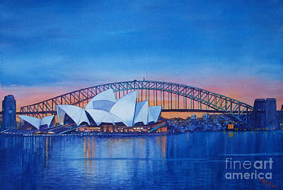 Bridges Painting - Sydney Opera House by Dani Tupper