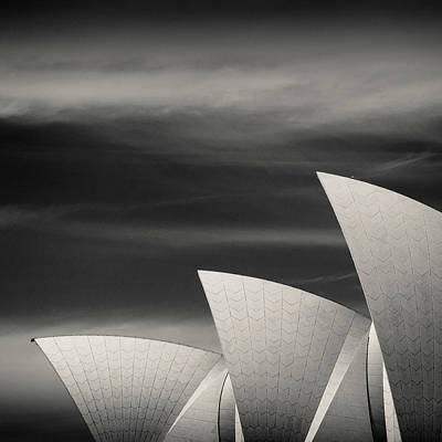 Semi-abstract Photograph - Sydney Opera House by Dave Bowman