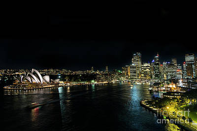 Photograph - Sydney Opera House Famous Landmark Exterior In Australia At Nigh by Jacek Malipan