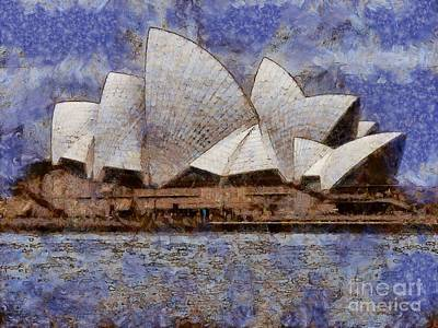 Digital Art - Sydney Opera House by Fran Woods