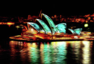 Photograph - Sydney Opera House Glow by Georgiana Romanovna