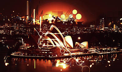 Photograph - Sydney Opera House Goes Modern by Georgiana Romanovna