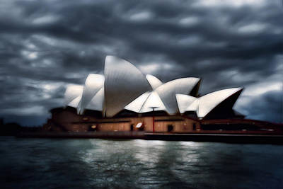 Photograph - Sydney Opera House In A Storm by Georgiana Romanovna