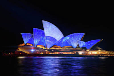 Photograph - Sydney Opera House In Blue by Georgiana Romanovna
