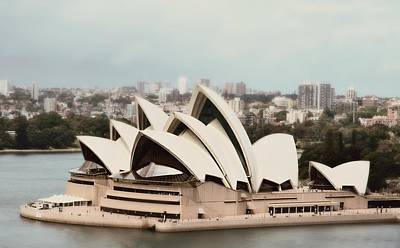 Halls Harbour Photograph - Sydney Opera House In Softscape by Toni Abdnour
