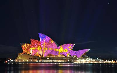 Architecture Digital Art - Sydney Opera House by Maye Loeser