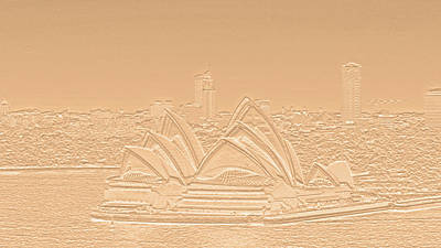 Digital Art - Sydney Opera House No. 17-2 by Sandy Taylor