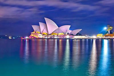 Colourful Photograph - Sydney Opera House Pre Dawn by Az Jackson