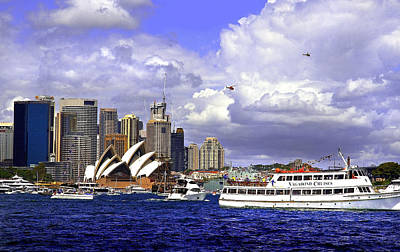 Photograph - Sydney Opera House Surrounded  By Boats On Australian Day by Miroslava Jurcik