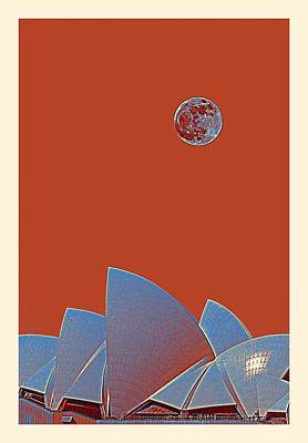 Sydney Harbour Painting - Sydney Opera House, Sydney, Australia Travel Poster 3 by Celestial Images