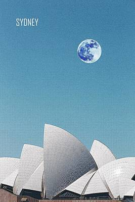 Painting - Sydney Opera House, Sydney, Australia Travel Poster by Adam Asar