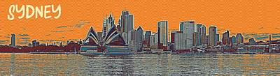 Country Painting - Sydney Opera House Travel Poster  by Celestial Images