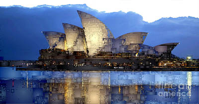 Digital Art - Sydney Opera In Australia by Rafael Salazar