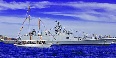 Photograph - Sydney Schooner And Indian War Ship  by Miroslava Jurcik