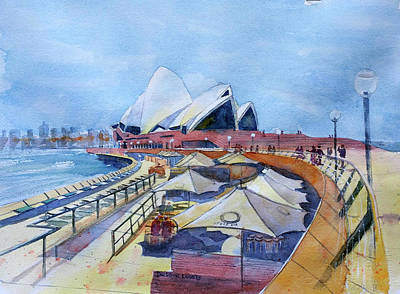Painting - Sydney Shapes by Debbie Lewis