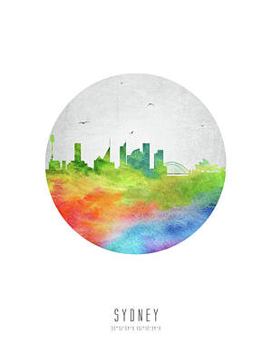 Sydney Skyline Digital Art - Sydney Skyline Ausy20 by Aged Pixel