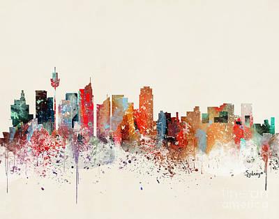 Sydney Painting - Sydney Skyline by Bleu Bri