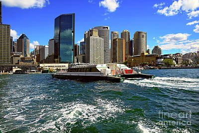 Sydney Skyline Photograph - Sydney Skyline From Harbor By Kaye Menner by Kaye Menner