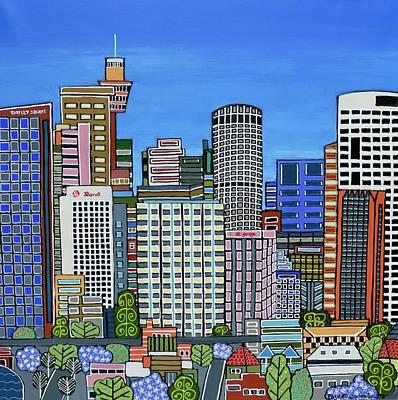 Painting - Sydney Skyscrapers by Elizabeth Langreiter