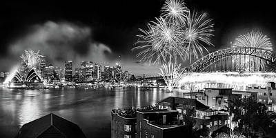 Skylines Royalty-Free and Rights-Managed Images - Sydney Spectacular by Az Jackson