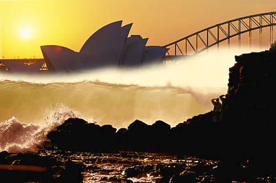 Sydney Surf Art Print by Sean Davey