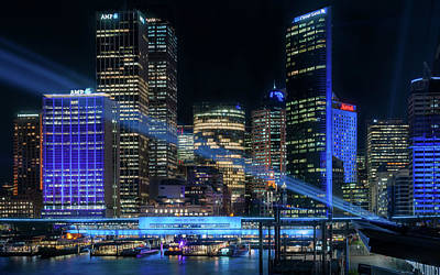 Photograph - Sydney -the Blue City by Daniela Constantinescu