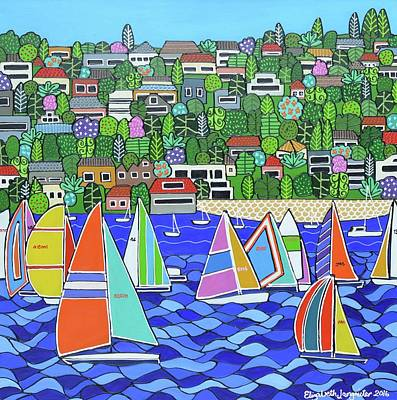 Painting - Sydney To Hobart  by Elizabeth Langreiter
