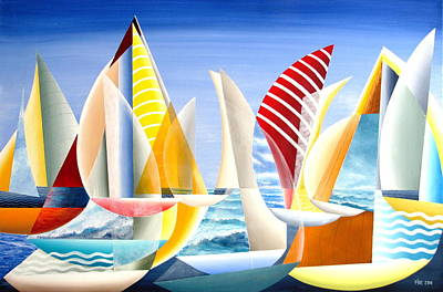 Painting - Sydney To Hobart Race by Douglas Pike