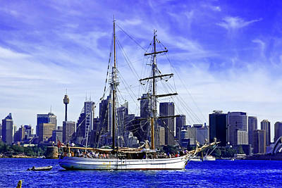 Photograph - Sydney Tower And Soren Larsen by Miroslava Jurcik