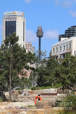 Sydney Skyline Photograph - Sydney Tower by Mikhael van Aken