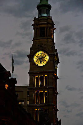 Photograph - Sydney Town Hall Clock Tower by Miroslava Jurcik