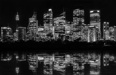 Photograph - Sydney Waterfront At Night by Daniela Constantinescu
