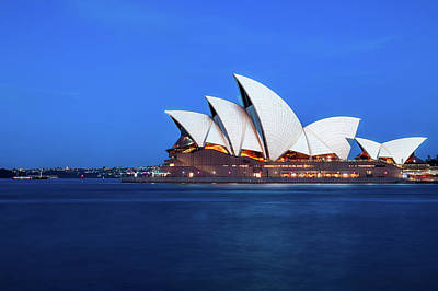 Photograph - Sydney's Opera House At Blue Hour by Daniela Constantinescu